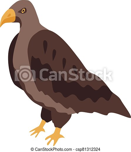 Brown eagle icon, isometric style - csp81312324