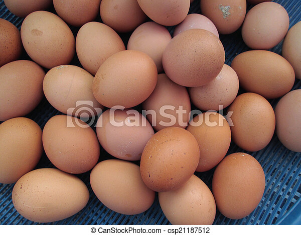 brown eggs - csp21187512