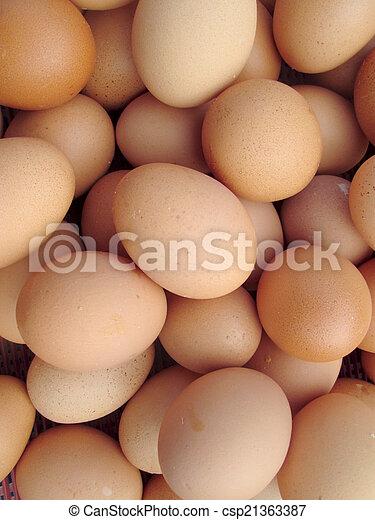 brown eggs - csp21363387