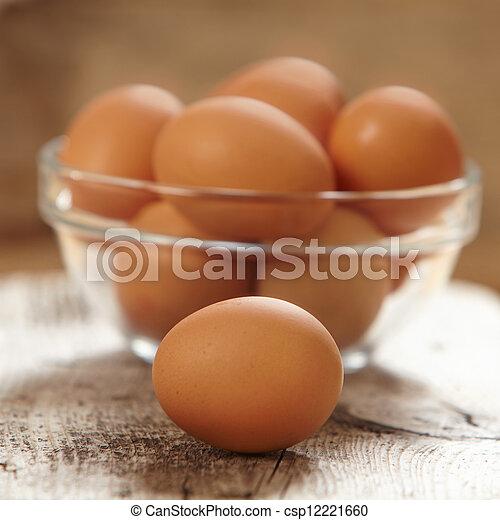 brown eggs - csp12221660