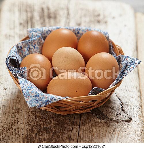 brown eggs - csp12221621