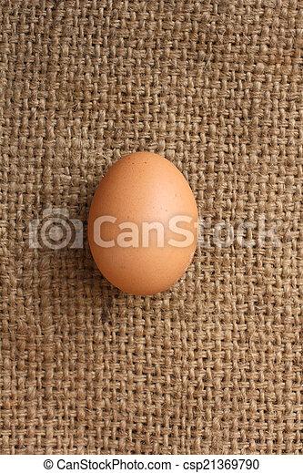 brown eggs - csp21369790