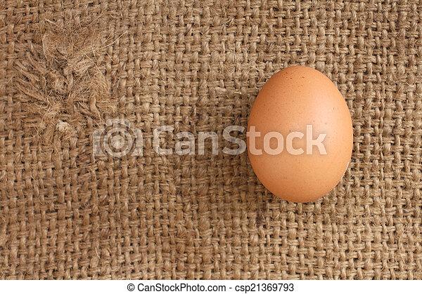 brown eggs - csp21369793