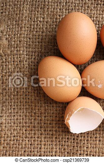 brown eggs - csp21369739