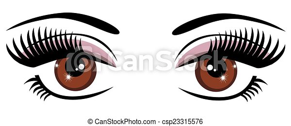 Brown Eyes - csp23315576