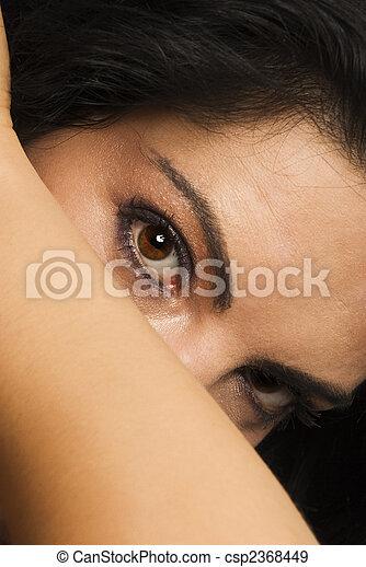Brown eyes  - csp2368449