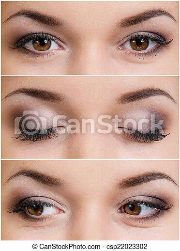 Brown eyes - csp22023302