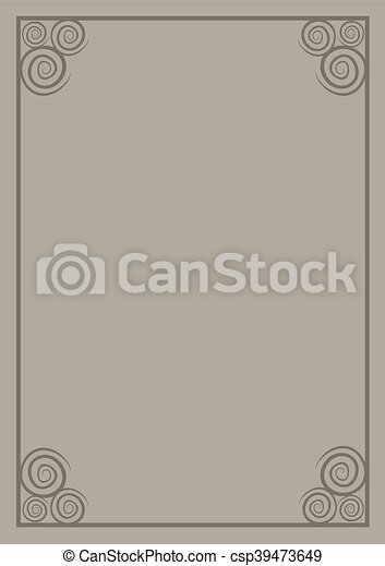 brown frame cover - csp39473649