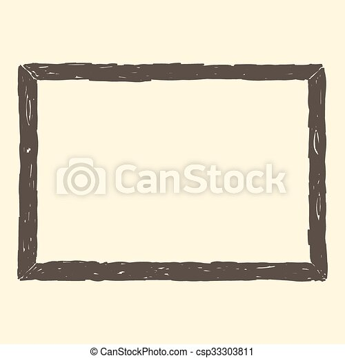 Brown Frame Sketch - csp33303811