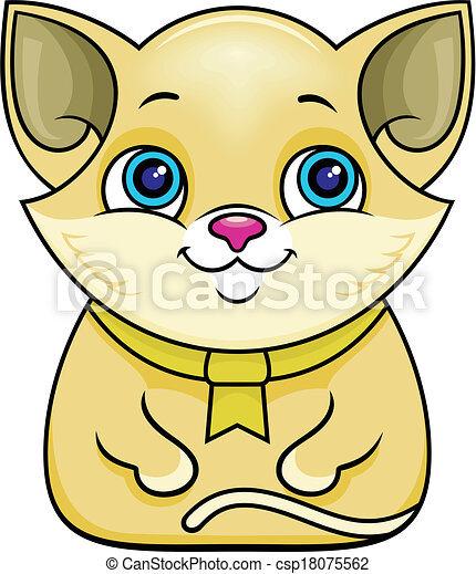 brown funny cat vector cartoon brown cat with big blue eyes clip rh canstockphoto com funny cat christmas clipart funny kitty clipart
