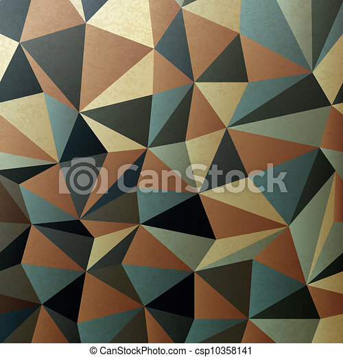 Brown gamut triangle patch surface. Abstract background, vector, EPS10 - csp10358141