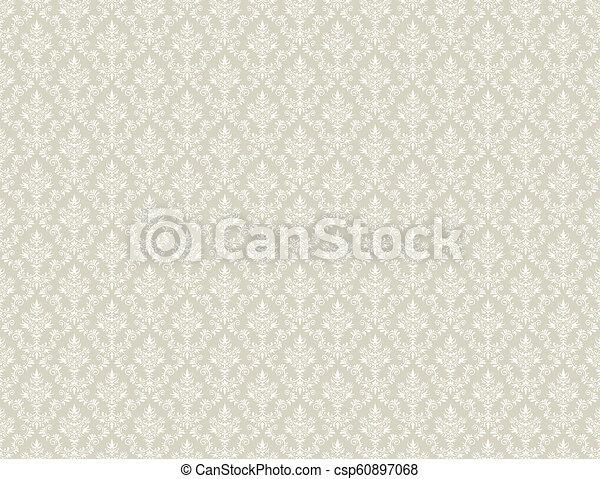 Brown Gold Wallpaper With White Damask Pattern Brown Gold Damask