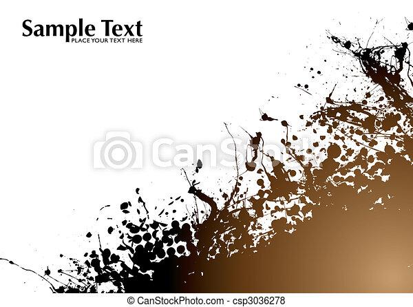 brown grunge background - csp3036278