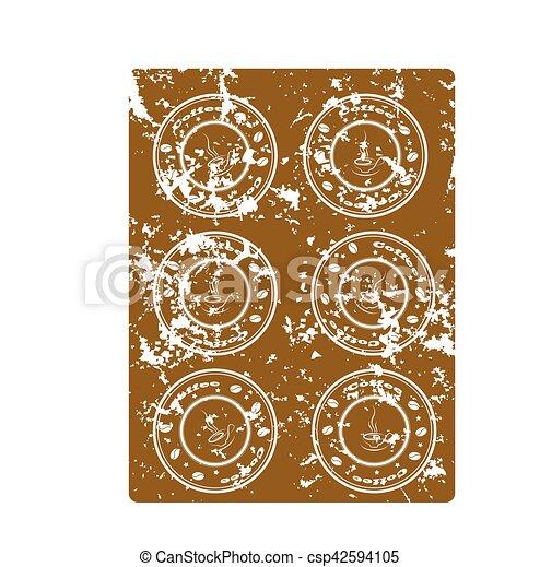 Brown grunge background - csp42594105