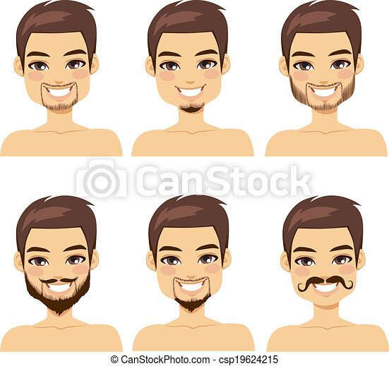 Brown Haired Man Beard Styles - csp19624215