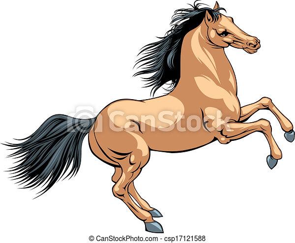 brown horse - csp17121588
