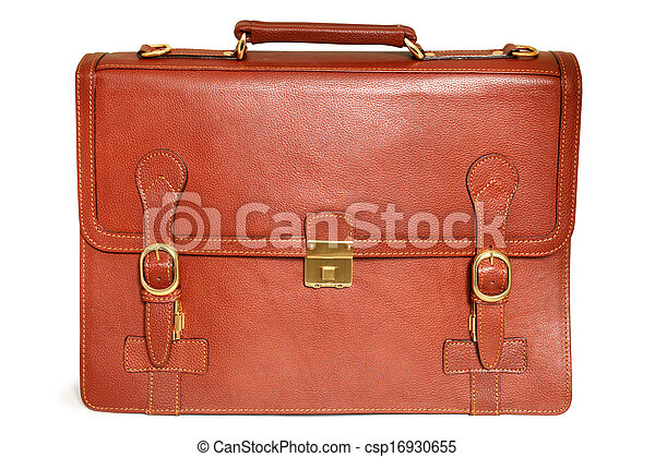 Brown leather bag - csp16930655