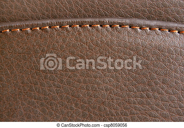 Brown leather - csp8059056