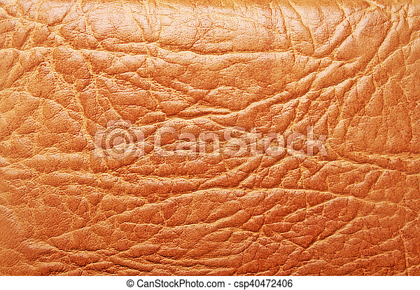 Brown leather texture, can use as background - csp40472406