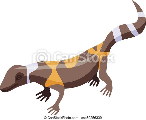 Brown lizard icon, isometric style - csp80256339
