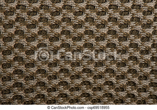 Brown military fabric background - csp69518955