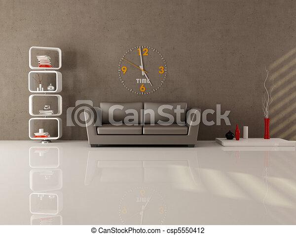 brown minimal lounge - csp5550412