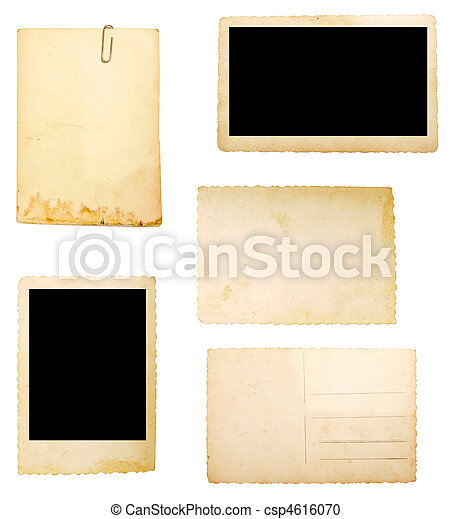 brown old paper note background - csp4616070