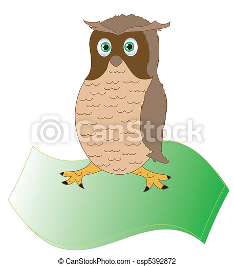 Brown owl, object isolated - csp5392872