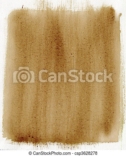 brown painted background with canvas texture - csp3628278