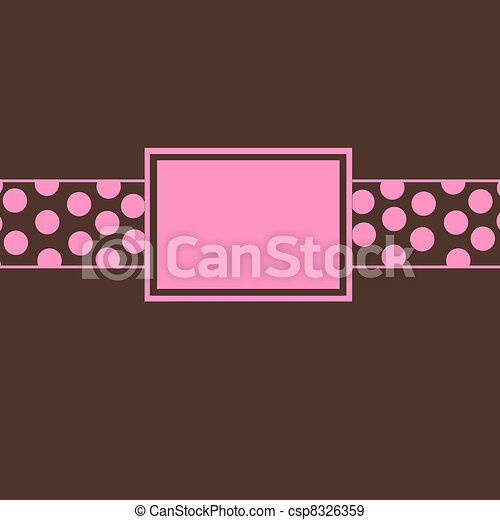 brown pink polka dot invite brown and pink polka dot invite or