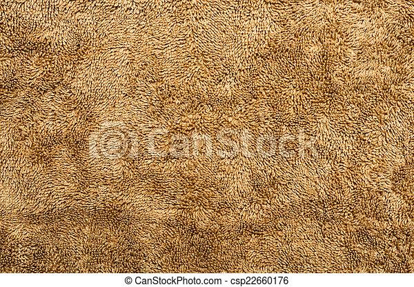 brown plush fabric close-up - texture - csp22660176