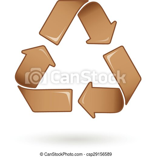 Brown Recycle logo vector - csp29156589