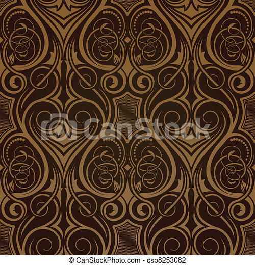Brown seamless wallpaper  - csp8253082