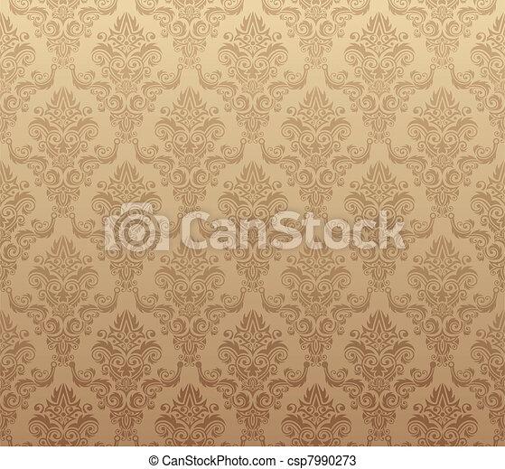 Brown seamless wallpaper pattern - csp7990273