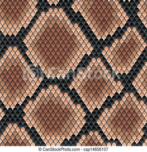 Brown snake seamless pattern - csp14656107