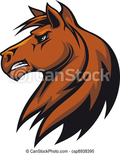 brown stallion head for mascot or equestrian sports design clipart rh canstockphoto com stallion mascot clipart Stallion Drawing