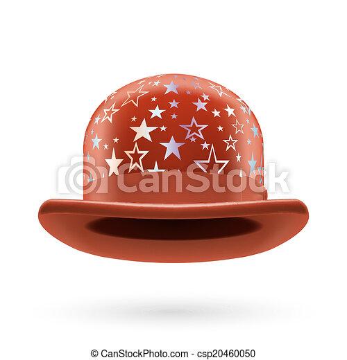 Brown starred bowler hat - csp20460050