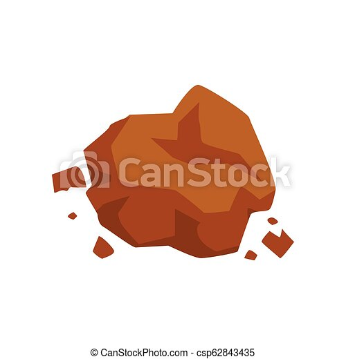 Brown stone, geological industry element vector Illustration on a white background - csp62843435