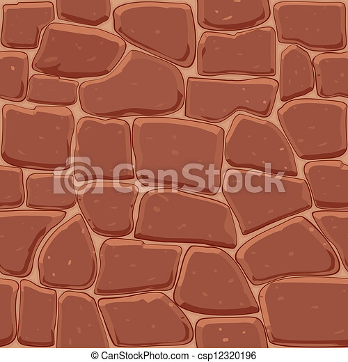 Brown stone seamless background - csp12320196