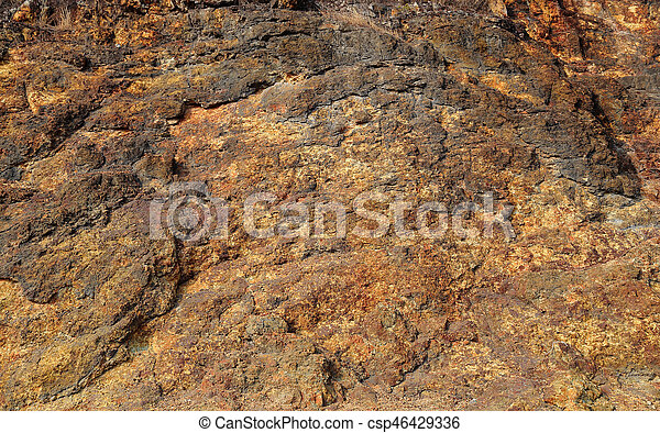 Brown stone wall background. - csp46429336