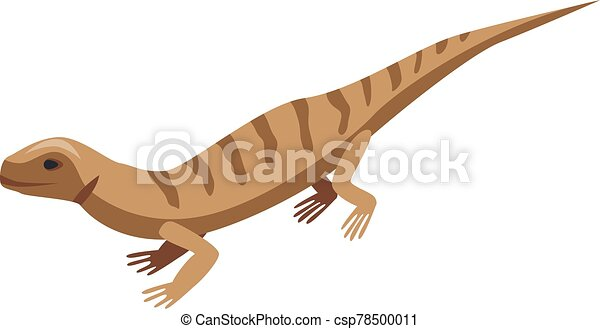 Brown striped lizard icon, isometric style - csp78500011