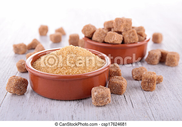 brown sugar isolated - csp17624681