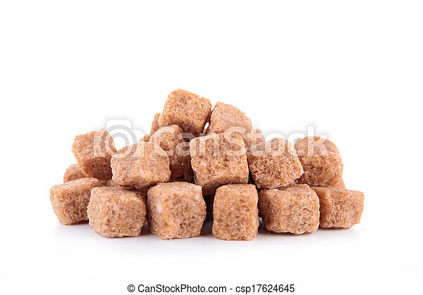 brown sugar isolated - csp17624645