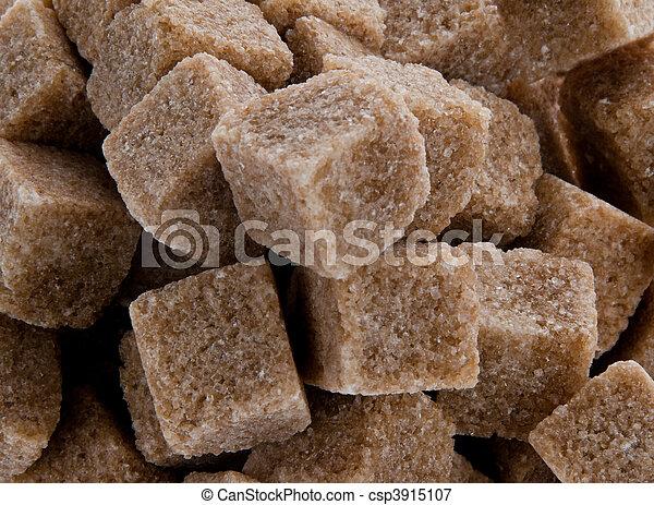 Brown sugar. Poor nutrition with carbohydrates - csp3915107