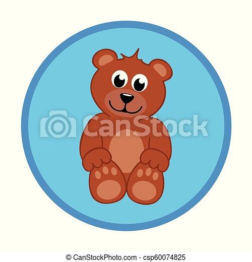 brown teddy bear baby boy - csp60074825