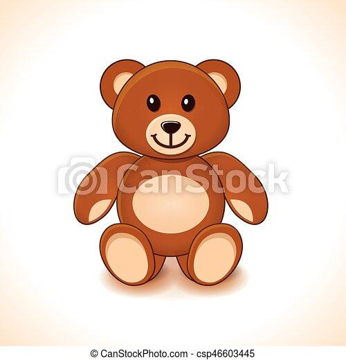 brown teddy bear - csp46603445