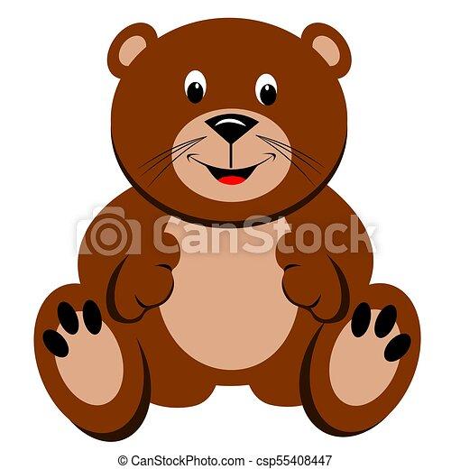 Brown Teddy Bear - csp55408447
