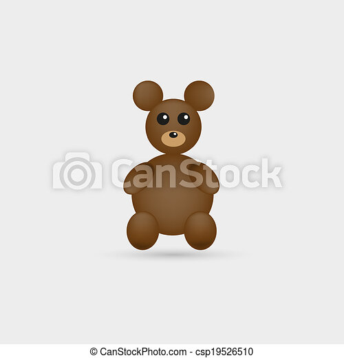 brown teddy bear - csp19526510