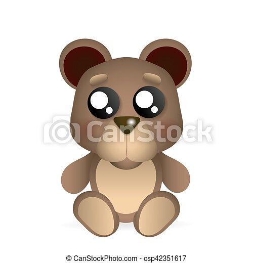 brown teddy bear - csp42351617