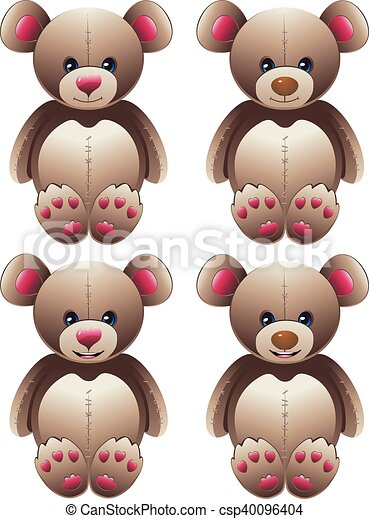 Brown Teddy Bear - csp40096404